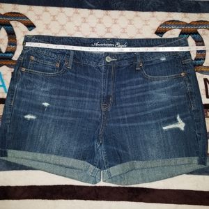 Women's Distressed Jean Shorts